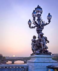 Pont Alexandre III de nuit - Paris