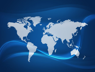 Global Communication background.connected World concept.