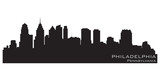 Philadelphia, Pennsylvania skyline. Detailed vector silhouette