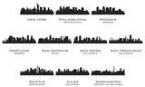 Fototapety Silhouettes of the USA cities_3