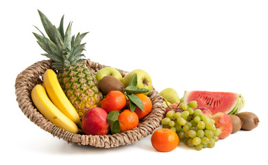 Bunte Mischung verschiedener Obstsorten