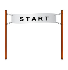Starting line – ribbon with start