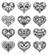 Valentine heart-shaped floral decorations