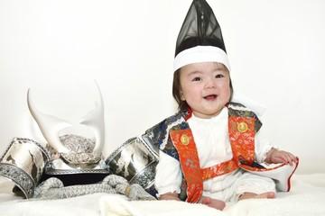 兜と陣羽織の赤ちゃん