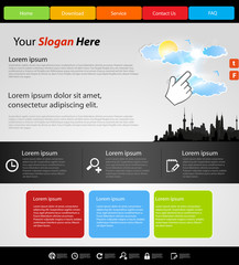 Website modern template, city design