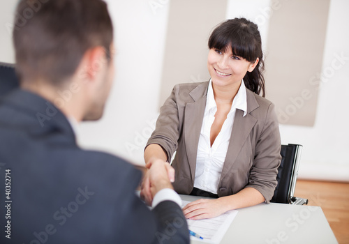 Young businesswoman at the interview