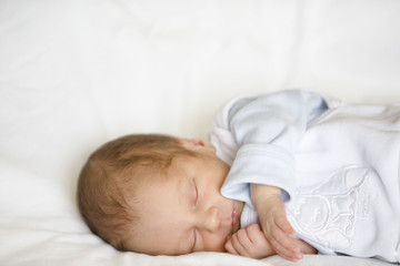 Newborn Baby Sleeping, close-up