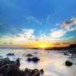 Crépuscule sur les plages réunionnaises.