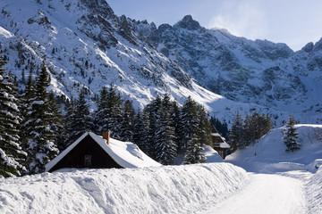 Mountain Tatras in winter scenery
