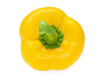 Yellow bell pepper, directly above