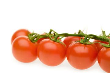 Organic cherry tomatoes, close-up