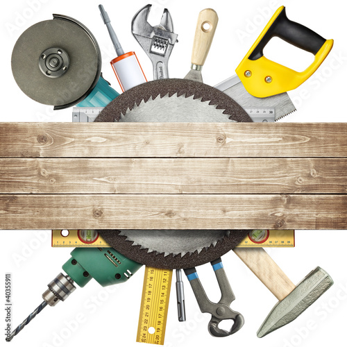 Leinwandbild Motiv Construction tools
