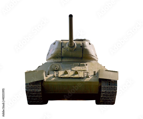 Tank T34 isolated