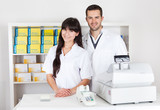 Portrait of two pharmacists