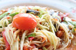 Thai Papaya Salad with fermented crab