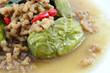 Eggplant fried with Tofu  Vegetarian food