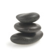 stack of balanced zen stones isolated on white background