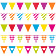 5 Seamless Festoons Different Pattern Colour
