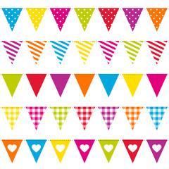 5 Seamless Festoons Different Pattern Colour