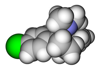 Sibutramine (oral anorexiant, obesity treatment) molecule