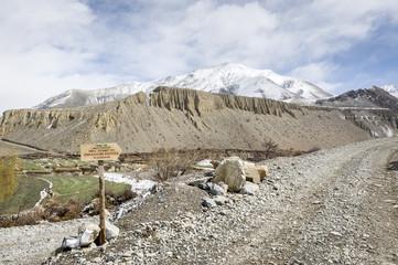 Trekking road in Himalaya
