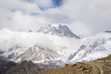 Top of Himalaya mountains