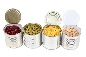 Grain in metal tins