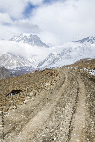 Trekking road in Himalaya
