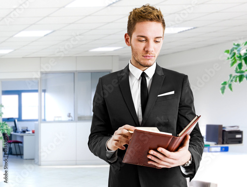 Businessman reading