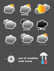 set of weather web icons