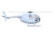 Silber Hubschrauber Seitenansicht - isoliert 2