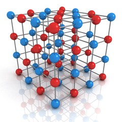 abstract render of network structure concept