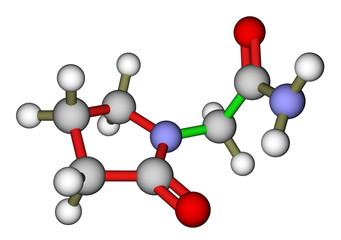 Piracetam (nootropic drug) 3D molecular structure
