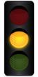 Ampelanlage - oranges Licht