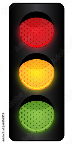 Ampelanlage - alle Lichter