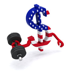 dollar symbol weight training