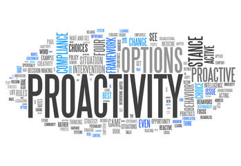"Word Cloud ""Proactivity"""