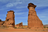 Red rock towers Eroded by the time