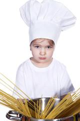 Junge Köchin ist enttäuscht