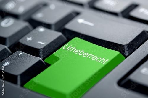 Urheberrecht grüne Taste