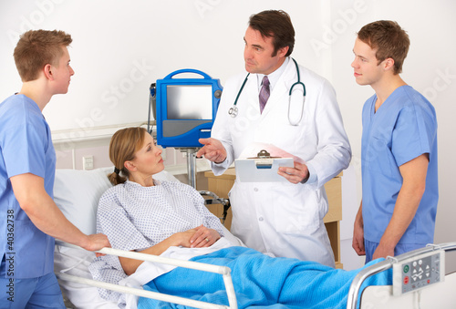 American medical team by patient's bed