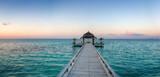 Beautiful wooden balk with pavilion (Maldives / Malediven) - 40363364