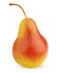 Ripe red-yellow pear fruit