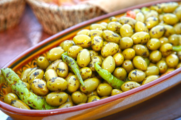 les olives....