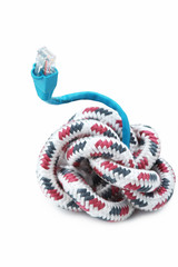 colorful string rope with USB isolated over white