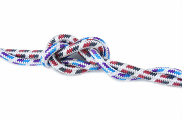 colorful string rope isolated over white background
