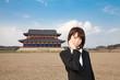 Princess MAIKO Benicio at ancient city in Japan