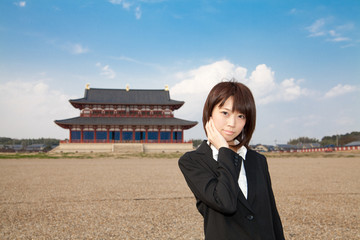 Princess MAIKO Benicio at ancient city in Japan