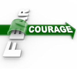Brave Courage Overcoming Fear Bravery Vs Afraid