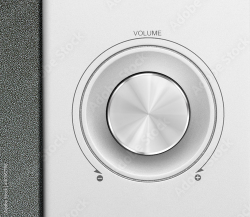 aluminum or silver volume knob button